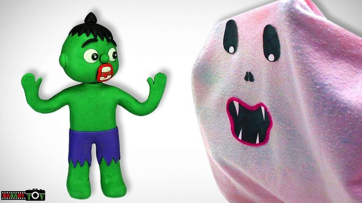 Scary prank kids Halloween costumes videos Hulk Elsa and Spiderman bad kid play doh for kids - YouTube