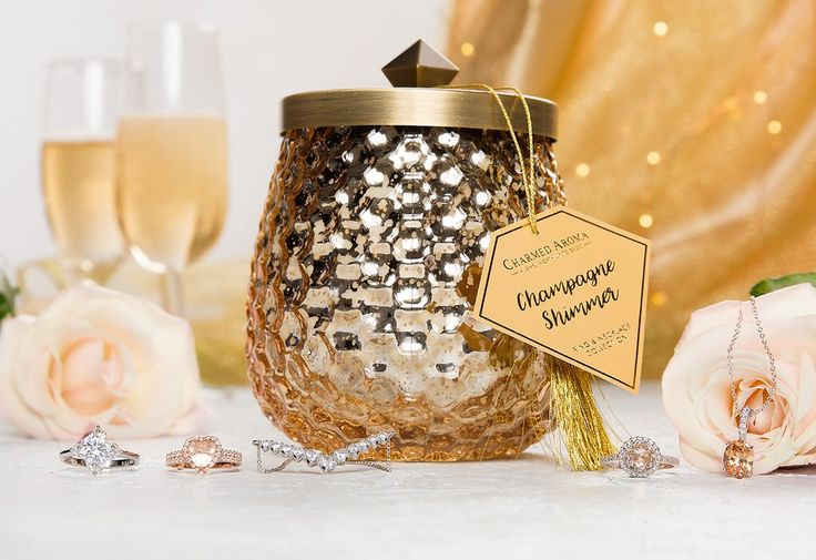 Champagne Shimmer - Ring & Necklace Collection – Charmed Aroma