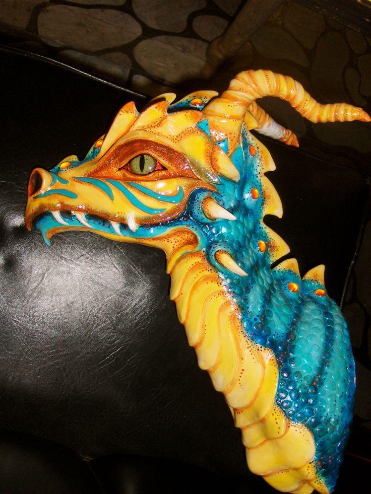 Deer Head Sculpture Clay