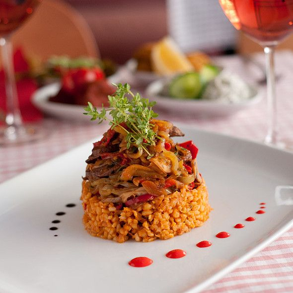 beef with bulgur @ Cafe Mese