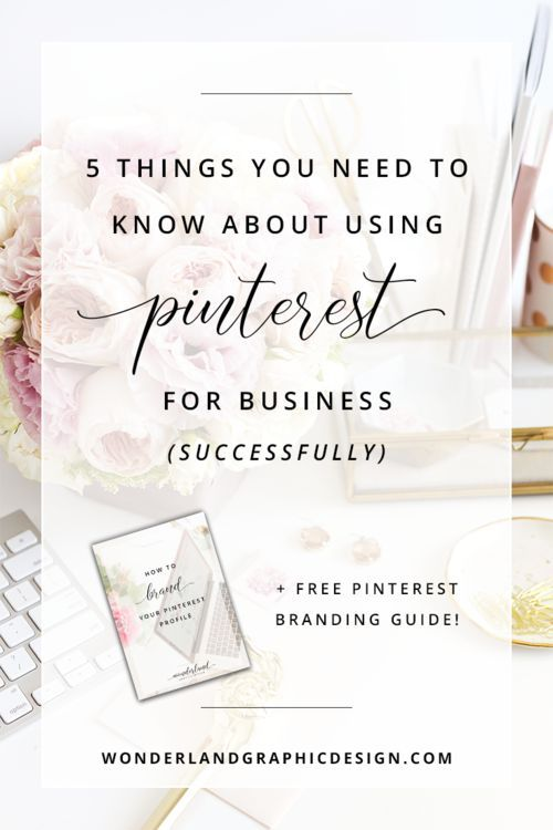 5 things you need to know about using pinterest for business successfully, plus a free guide how to brand your pinterest profile.As a female entrepreneur, blogger or small business owner, pinterest is a big platform for social media marketing. Increase your blog traffic, get more followers and more sales!