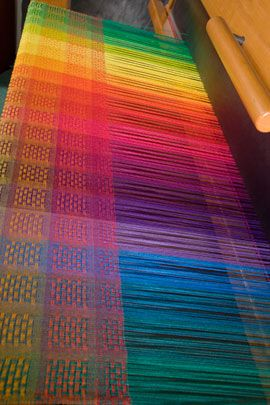 Color Interactions in Weaving