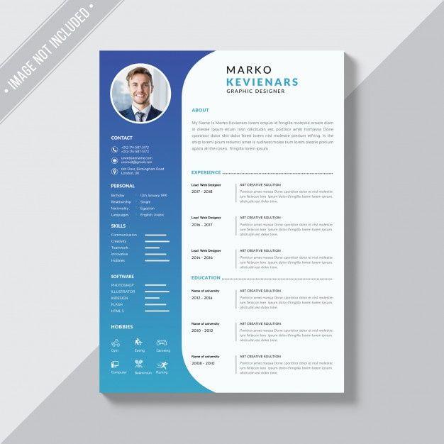 Simple Resume Themplate Premium Psd Premium Psd Freepik Psd Business Te In 2020 Downloadable Resume Template Free Resume Template Download Resume Design Template