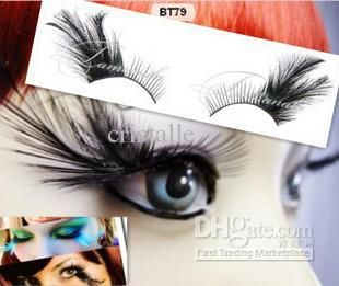 Wholesale party exaggerated black feather false eyelashes (50 pair), Free shipping, $2.02-2.18/Piece | DHgate