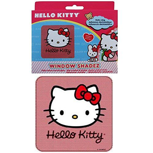 Hello Kitty Face Head with Red Bow Sanrio Auto Car Truck SUV Vehicle Side Cling Sun Shade - Window Shadez. For product info go to:  https://www.caraccessoriesonlinemarket.com/hello-kitty-face-head-with-red-bow-sanrio-auto-car-truck-suv-vehicle-side-cling-sun-shade-window-shadez/
