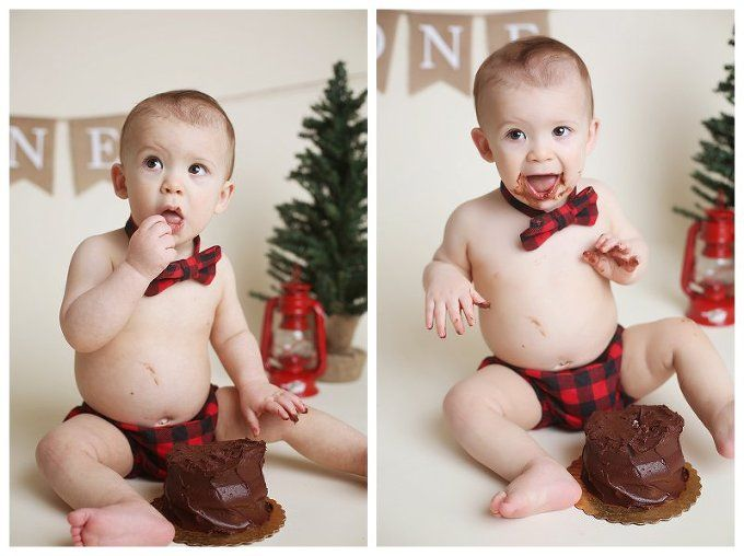 Annapolis Family photographer , lumberjack themed birthday, buffalo plaid, cake smash