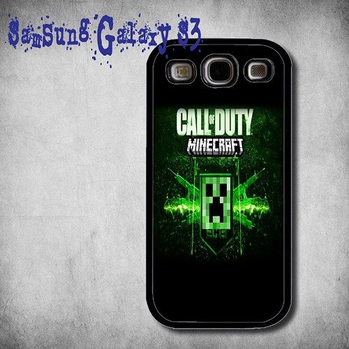 New MINECRAFT Call Of Duty Print On Hard Plastic Samsung Galaxy S3, Black Case