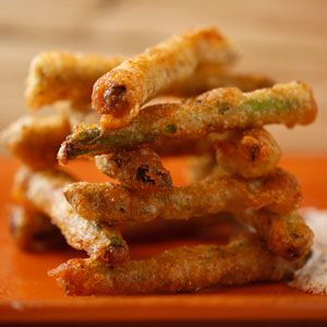 Sunny Anderson's Beer Battered Italian Asparagus with Dip Recipe