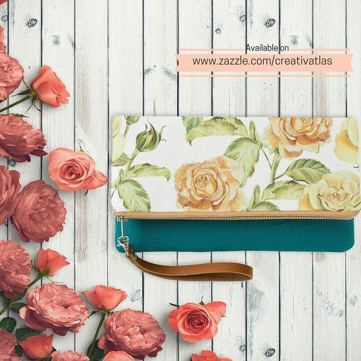 Style : Rose Gold Vintage Floral Foldover Clutch  Buy From : http://ift.tt/2dND4zq  Color : Teal Fold-Over Clutch  A must-have accessory for every woman this hand-stitched linen clutch is perfect for carrying everything you need to make it through the day.  Dimensions: Folded: 9 w x 5 l Unfolded: 9 w x 8 l Printed on Belgian linen. Choice of 6 colors Durable inner lining made from 100% cotton Brown genuine leather detachable wrist strap Metal zipper to close Magnetic button for secure…