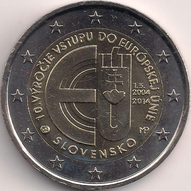 Motivseite: Münze-Europa-Mitteleuropa-Slowakei-Euro-2.00-2014-Európskej Únie
