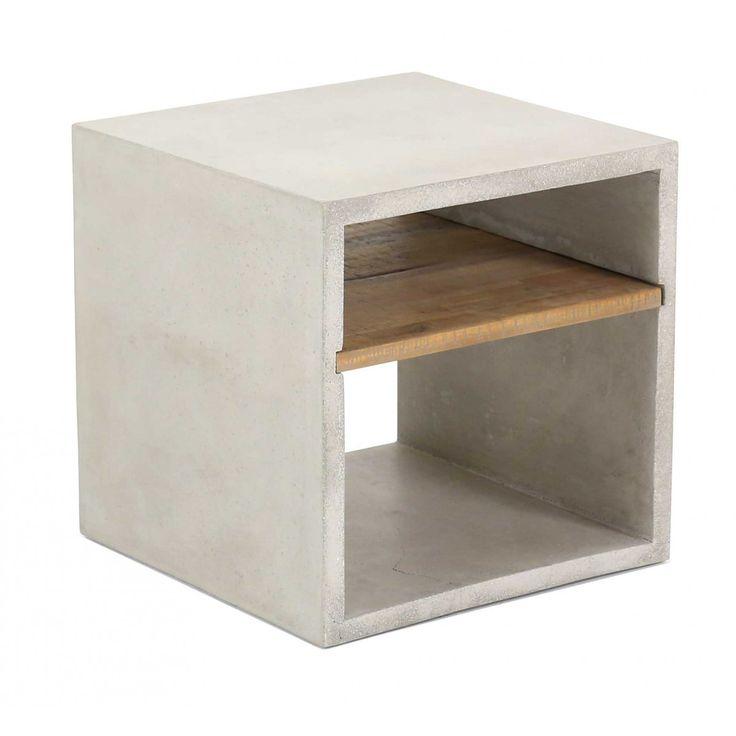 Vega Concrete Cube (with Shelf)   Accessories   Furniture Maison...