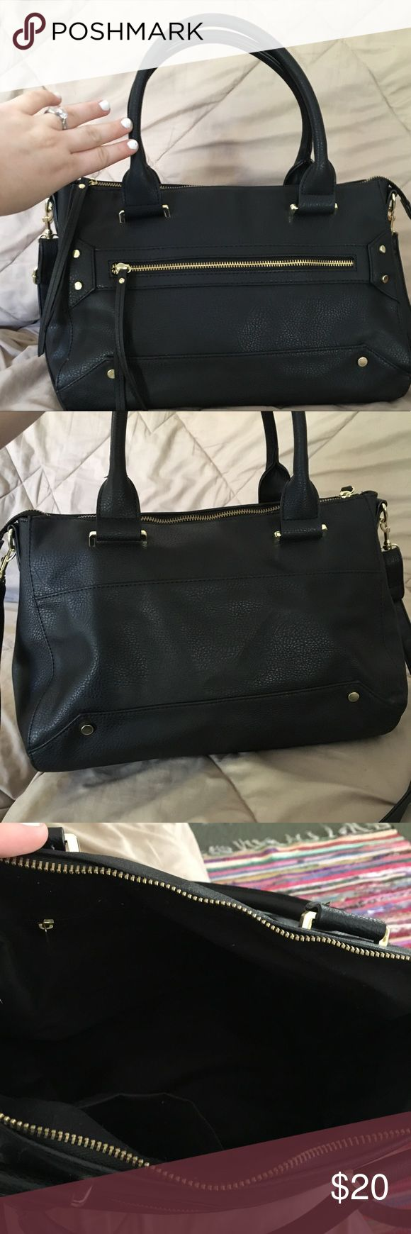 Black Target Purse (Like New) Used for maybe a week? It's way to big for what I carry (car keys, wallet, my iPhone...) so I got a smaller crossbody. This beautiful black bag cake from target. I don't have the tags or I'd return it Bags Satchels