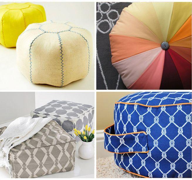 25 Perfect DIY Pouf Tutorials - Love poufs, I want a whole room of poufs!