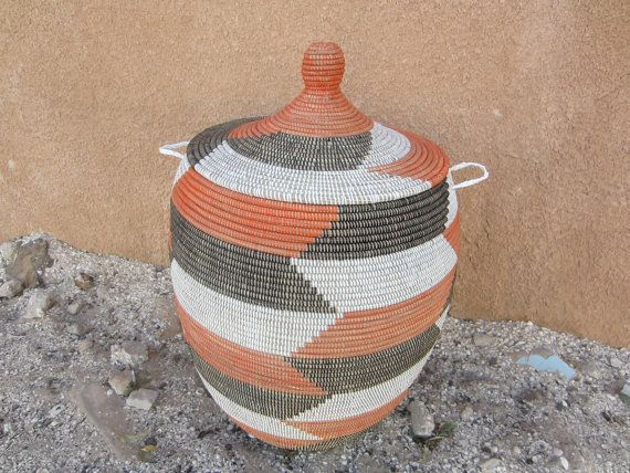 Extra Large Storage Basket Laundry Basket with by africanbaskets