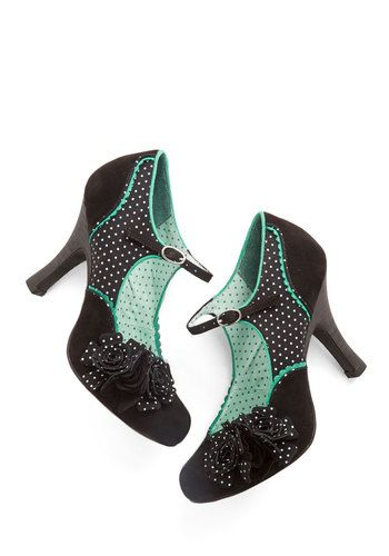 You Look Lively! Heel. Putting pep in your step is as easy as buckling on these black Mary Jane heels! #blackNaN