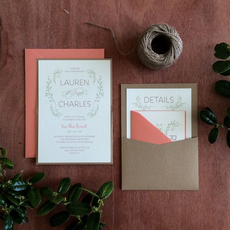 sample spanish wedding invitations%0A Rustic Foliage Wedding Invitation Sample by TheLoveprint on Etsy