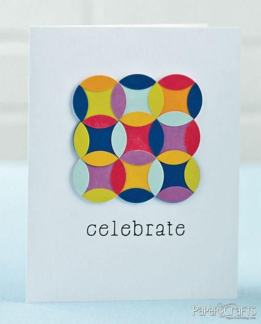 Celebrate Card by @Laura Bassen: Cards Design, Bassen Cards, Cards Cirlces, Birthday Cards, Cardmaking, Card Ideas, Card Making, Cards Celebrate Party