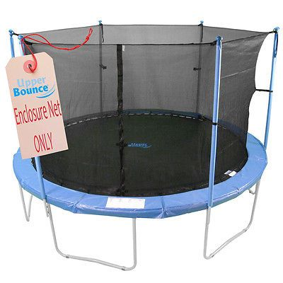 Trampolines 145999: Trampoline Enclosure Safety Net Fits 15 Round Frames Using 6 Poles Or 3 Arches -> BUY IT NOW ONLY: $59.64 on eBay!