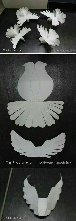 White pegion made out of paper