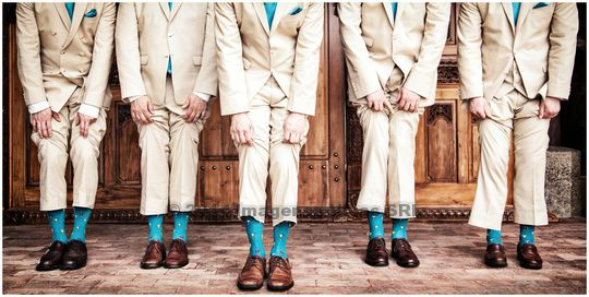 Matching socks for groomsman. Fotography by Costa Rica Wedding Photo. For more ideas and information visit us at www.costaricaparadisewedding.com
