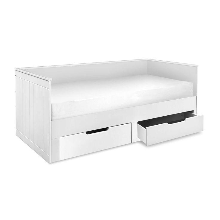Relita Funktionsbett Leonie 90 x 200 cm Weiß Holzoptik