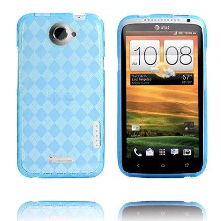 Tuxedo (Läpikuultava Vaaleansininen) HTC One X Skydd