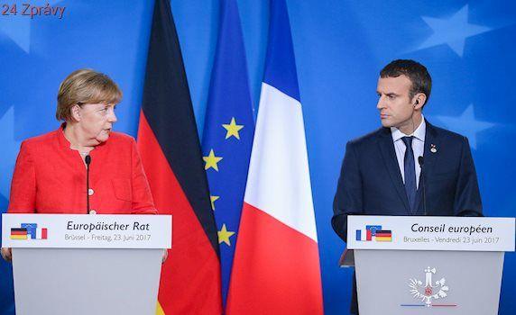 KOMENTÁŘ: Německo skončilo v posteli s Francií. Merkelová nemá na výběr, Macron se chopil šance