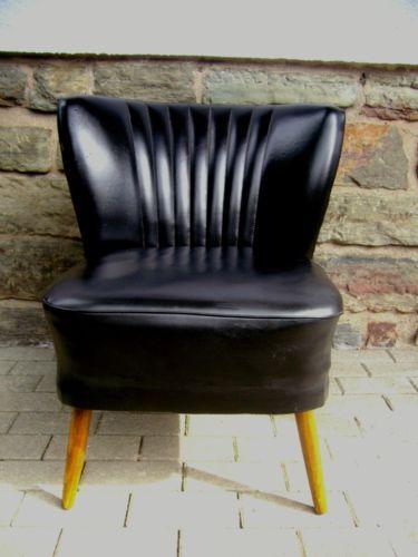 True-Vintage-50er-Nieten-Cocktail-Sessel-schwarz-Clubsessel-Nierentisch-Shabby