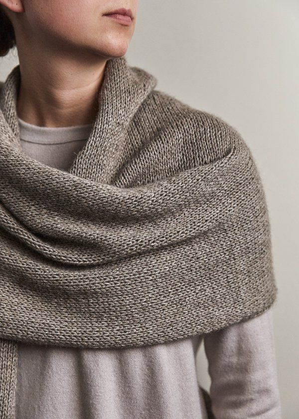 Elementary Wrap Free Knitting Pattern By Purl Soho Knitting Patterns Free Scarf Shawl Knitting Patterns Knit Wrap Pattern