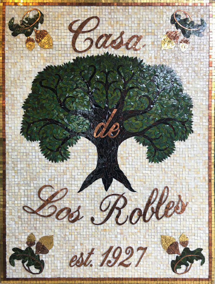 Casa de Los Robles Mosaic by mosaic artist Dyanne Williams
