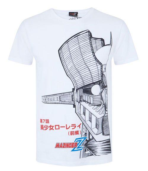 Camiseta Mazinger Z en Blanco
