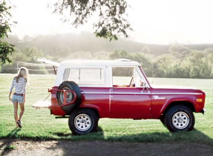 lifestyle photography, red ford bronco, live life to the fullest.