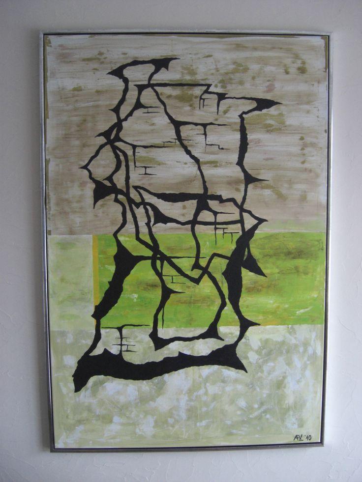arl, 100x150cm Cracks, lys