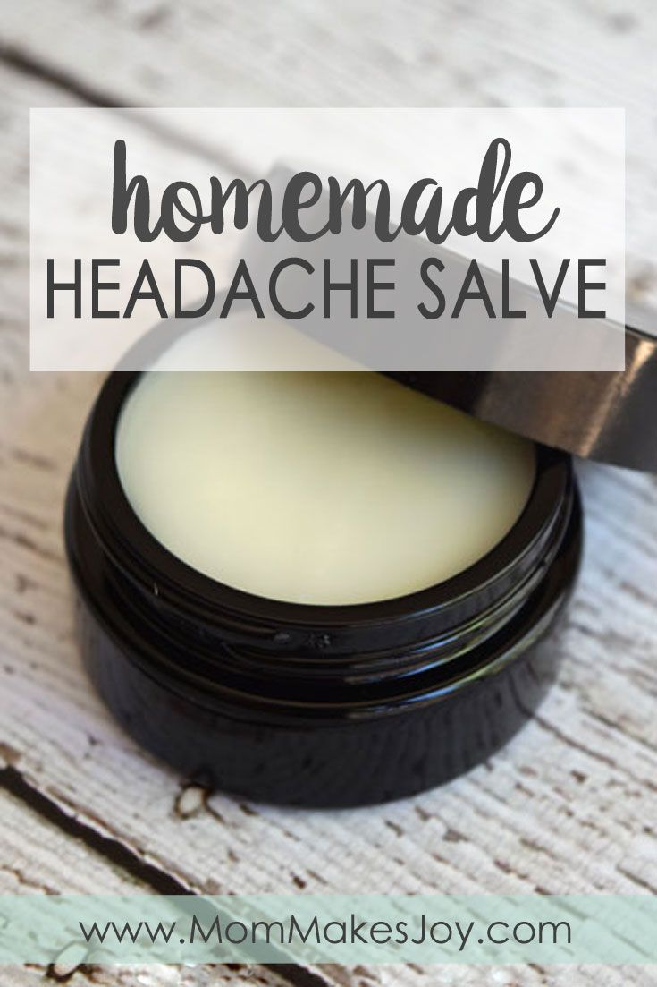 Learn how to make your own homemade headache salve with this easy tutorial featuring Infinity Jars! All you need is four ingredients!