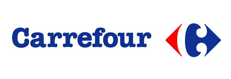 """Carrefour is one of the biggest European retailers, and it's also French for """"crossroads"""". The logo symbolizes this word via two opposite arrows. They also added the first letter of the name, because if you look closely you'll see the letter C in the negative space between the two arrows."""