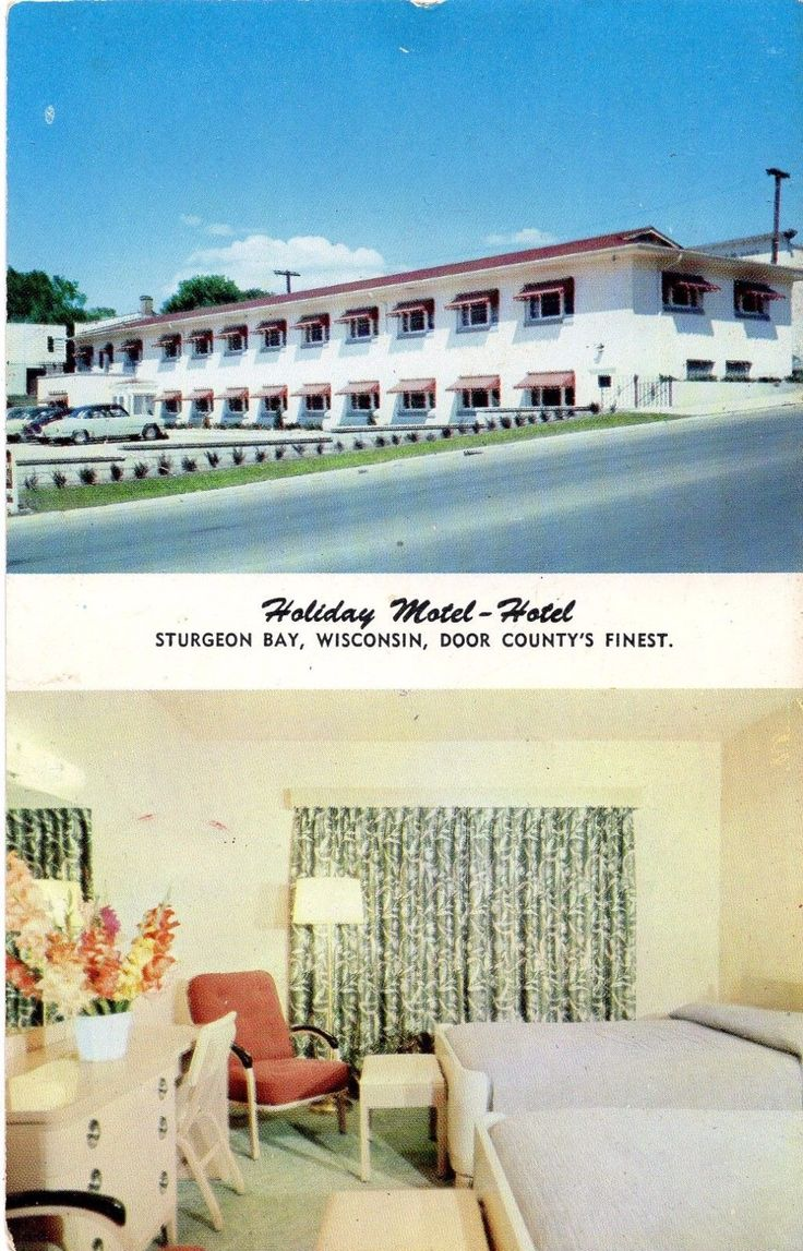 Holiday Motel-Hotel, Sturgeon Bay, WI - 1954
