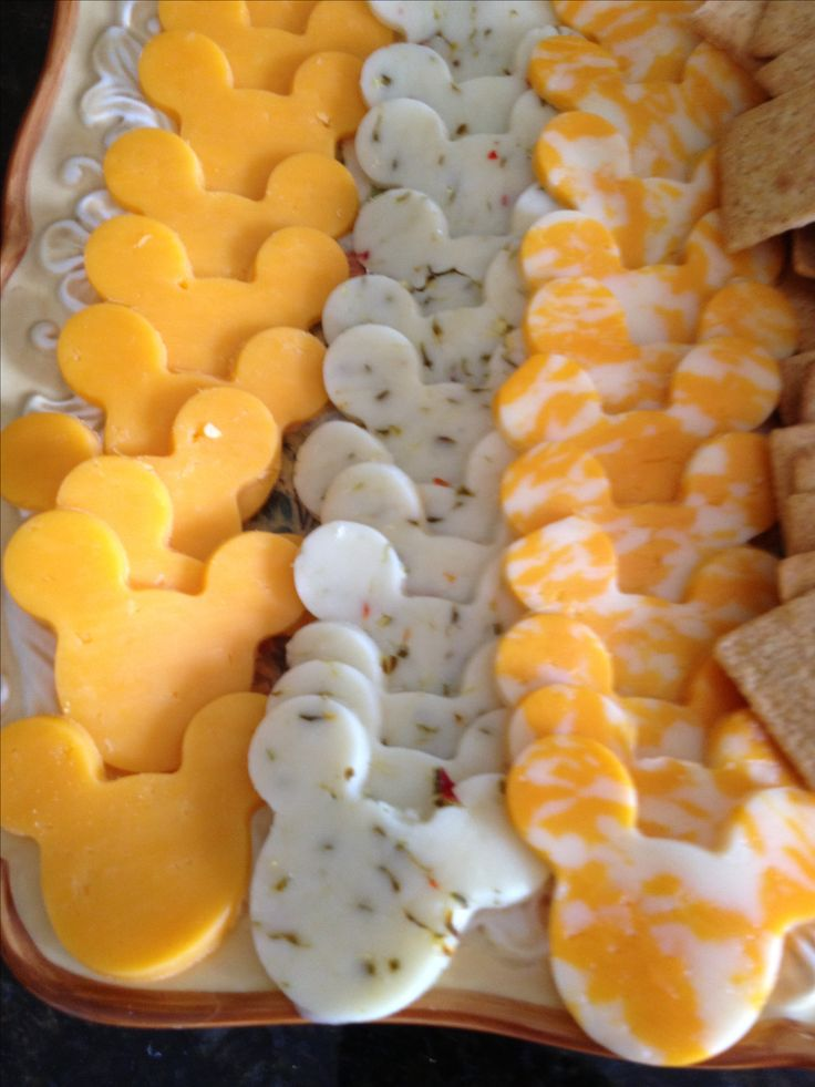 Minnie Mouse cheese plate IF i can find a minnie mouse cutter....
