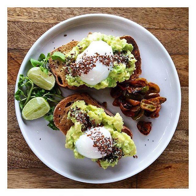WEBSTA @ theshadyshack - Avo on toast with Onsen Eggs, breakfast waits for no one  pic ~ @grethi_greth