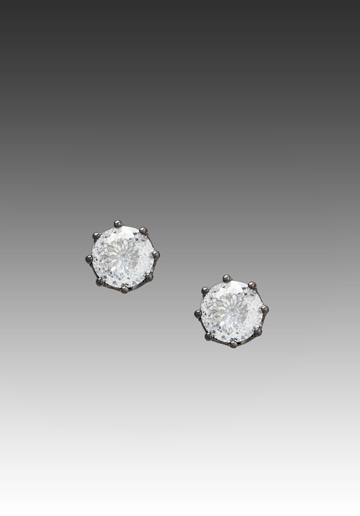 JUICY COUTURE Dirty Diamond Oversized Stud Earrings in Hematite at Revolve Clothing