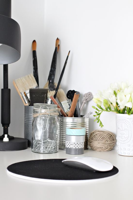 { Black & white home office } | Stylizimo Blog