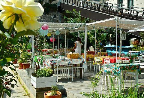 La Passarelle restaurant. Marseille, France.