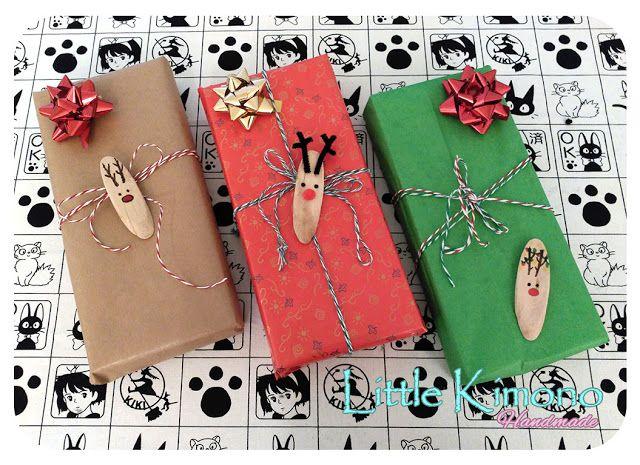 Etiquetas adhesivas de madera: Reno - Little Kimono Handmade ❣