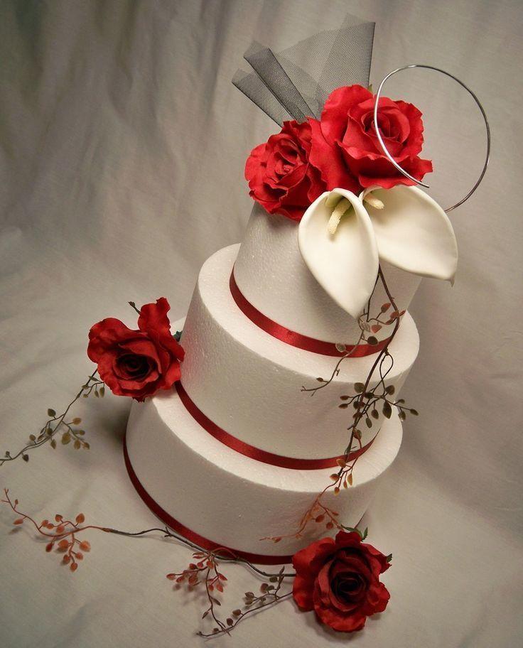 Красно белые свадебные торты - фото 5237643 Арт-кондитер Наталья Татаринова