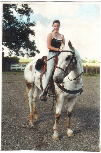 Me on Lace at our old farm back a few years