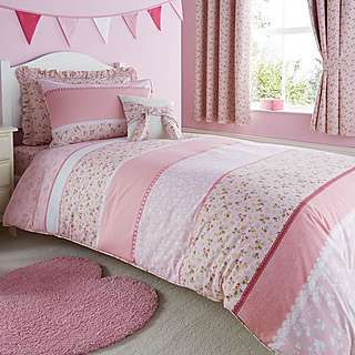Polly Pink Bed Linen Collection. | Dunelm