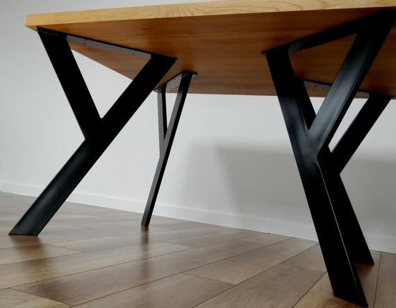 Metal Table Legs Also For Round Tables Industrial Dining Table