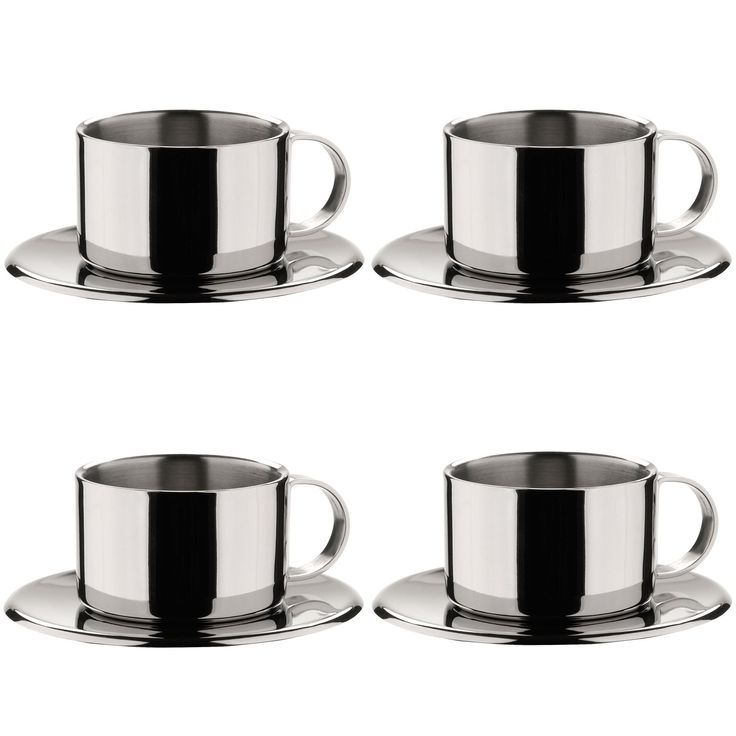 miu france stainless steel espresso cup set of 4 coffee tea espresso cups set espresso. Black Bedroom Furniture Sets. Home Design Ideas