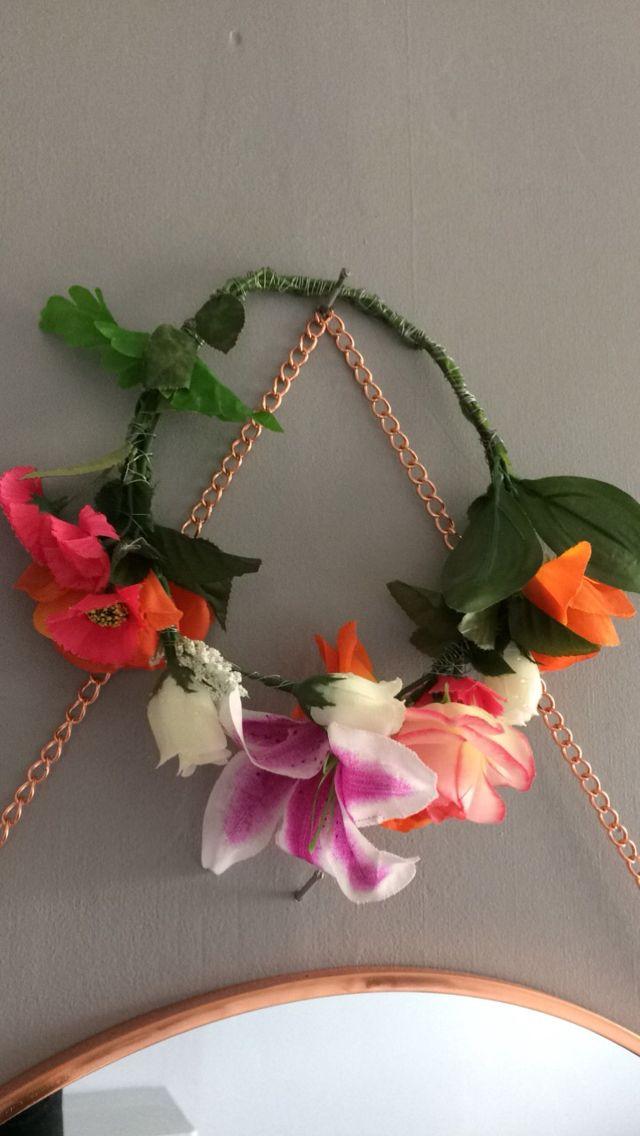 Hand made artificial flower crown