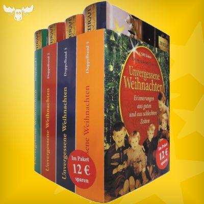 Weihnachtsbücher Unvergessene Weihnachten - Band 1-4 in Schuber. Mit hunderten von Weihnachtsgeschichten und Weihnachtserinnerungen.