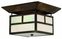 This Two Light Flush Mount has a Bronze Finish and is part of the PUEBLO Collection.